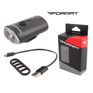 Фара передняя FORMAT, 2 Domestic LED, 220 mAh, 4 режима работы, IP65